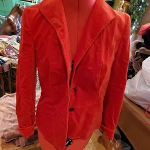 Size 6 red heavy material jacket